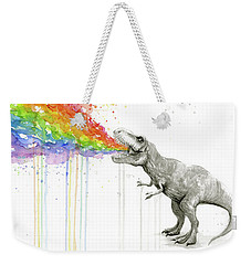 T-rex Tastes The Rainbow Weekender Tote Bag