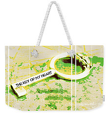 I Give You The Key Of My Heart Weekender Tote Bag
