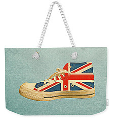 Weekender Tote Bag featuring the digital art Hi Top With England Flag by Anthony Murphy