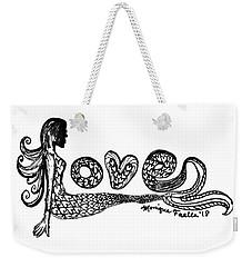 Mermaid Love Weekender Tote Bag