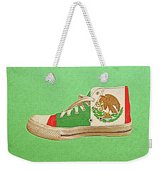 Weekender Tote Bag featuring the digital art Hi Top With Mexican Flag by Anthony Murphy