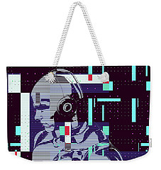 Weekender Tote Bag featuring the digital art My Robot by Anthony Murphy