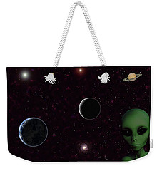 Weekender Tote Bag featuring the digital art Ever Wonder What Is Out There by Anthony Murphy