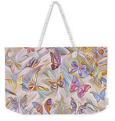 Butterflies Abstract  Weekender Tote Bag