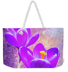 Our First Crocuses This Spring Weekender Tote Bag