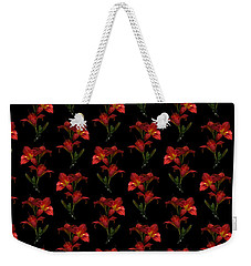 Portrait Of Red Lily Flowers Weekender Tote Bag