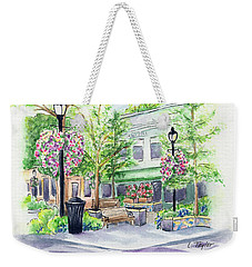 Across The Plaza Weekender Tote Bag