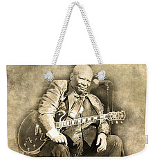 Weekender Tote Bag featuring the digital art Blues Boy by Anthony Murphy