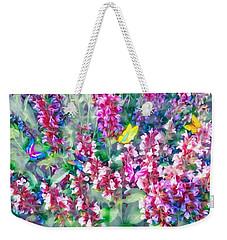 Colorful Floral Mix Weekender Tote Bag