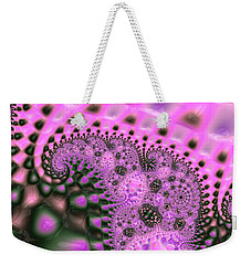 Pink Elephants Are In The Grass Weekender Tote Bag