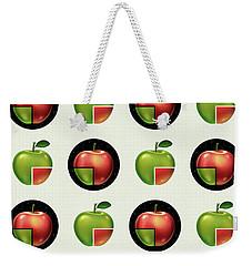 Divided Apple Pattern Weekender Tote Bag