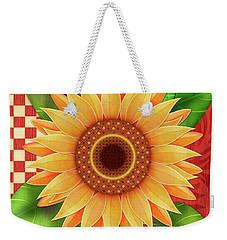 Country Sunflower Weekender Tote Bag
