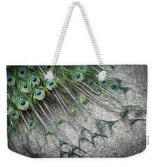 Poised Peacock Weekender Tote Bag