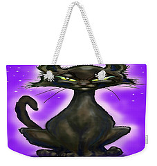 Black Cat Weekender Tote Bag by Kevin Middleton