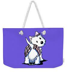 Dressed To Kilt Westie Weekender Tote Bag