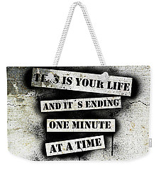 This Is Your Life - Fight Club Weekender Tote Bag