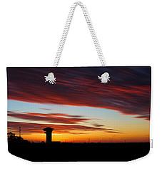 Sunrise Over Golden Spike Tower Weekender Tote Bag