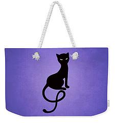Purple Gracious Evil Black Cat Weekender Tote Bag