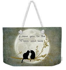 Love You To The Moon And Back Weekender Tote Bag