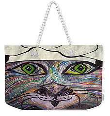 Weekender Tote Bag featuring the painting Chef Pierre ... A Cat With Good Taste by Eloise Schneider