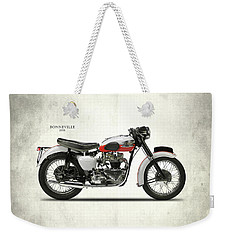 Triumph Bonneville 1959 Weekender Tote Bag by Mark Rogan