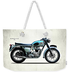 Triumph Bonneville 1961 Weekender Tote Bag by Mark Rogan