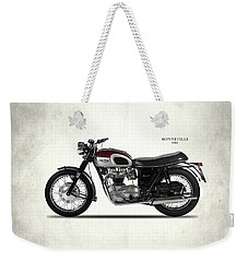 Triumph Bonneville 1968 Weekender Tote Bag by Mark Rogan