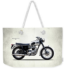 Triumph Bonneville 1963 Weekender Tote Bag by Mark Rogan