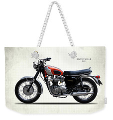 Triumph Bonneville 1969 Weekender Tote Bag by Mark Rogan