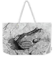 Frog On Rock Weekender Tote Bag