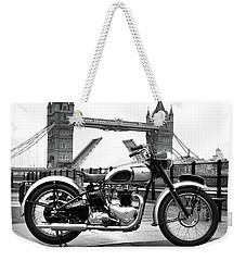 1949 Triumph T100 Weekender Tote Bag by Mark Rogan