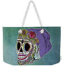 Catrina Sugar Skull Weekender Tote Bag by Tammy Wetzel