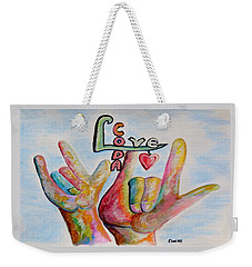 Coda - Children Of Deaf Adults Weekender Tote Bag