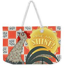Good Morning Rooster Weekender Tote Bag