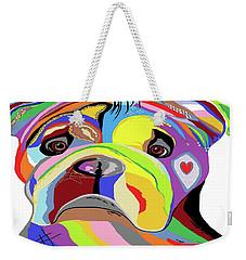 Bulldog Weekender Tote Bag by Eloise Schneider