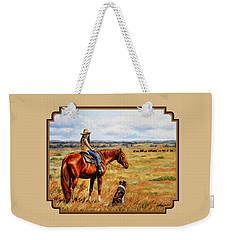 Horse Painting - Waiting For Dad Weekender Tote Bag