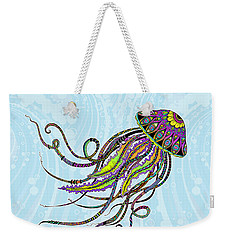 Electric Jellyfish Weekender Tote Bag by Tammy Wetzel