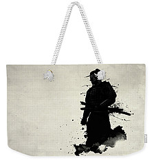 Weekender Tote Bag featuring the painting Samurai by Nicklas Gustafsson