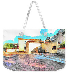Arzachena Church Square Snow Madonna Weekender Tote Bag