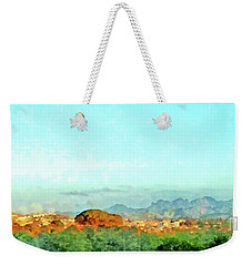 Arzachena Landscape With Mountains Weekender Tote Bag