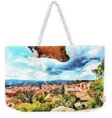 Arzachena Landscape With Rock Snd Clouds Weekender Tote Bag