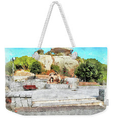 Arzachena Mushroom Rock With Children Weekender Tote Bag