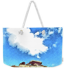 Arzachena Mushroom Rock With Cloud Weekender Tote Bag
