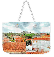 Arzachena Urban Landscape With Mountain Weekender Tote Bag