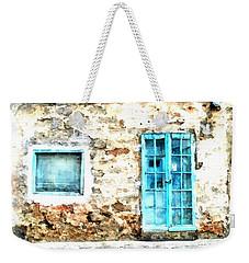 Arzachena Window And Blue Door Store Weekender Tote Bag