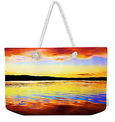 As Above So Below - Digital Paint Weekender Tote Bag