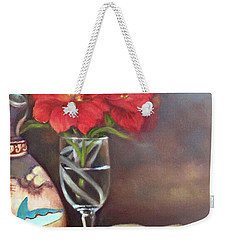 Weekender Tote Bag featuring the painting As If In A Dream by Marlene Book