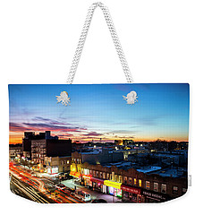 Weekender Tote Bag featuring the photograph As Night Falls by Johnny Lam