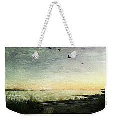 Weekender Tote Bag featuring the photograph As The Sky Darkens  by Connie Handscomb