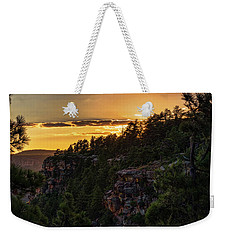 Weekender Tote Bag featuring the photograph As The Sun Sets On The Rim  by Saija Lehtonen